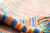 Knitted multicolored scarf — Stock Photo