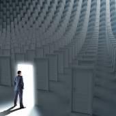 Businessman choosing the way — Stock Photo