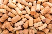 A lot of wine corks — Stock Photo