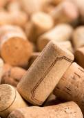 Closeup of wine corks heap — Stock Photo