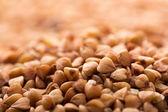 Heap of brown buckwheat — Stock Photo