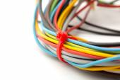 Bunch of colorful cables — Stock Photo