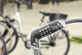 Кодовый замок для велосипеда — Стоковое фото