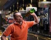 Adult man with alcohol — Stock Photo
