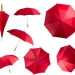 Red umbrellas set — Stock Photo #70784335