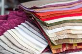 Various  Examples of fabric — Stock Photo