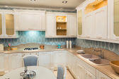 Luxury kitchen interior — Stock Photo