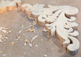 Carved interior Decoration — Stock Photo