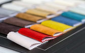 Colorful fabrics samples — Stock Photo