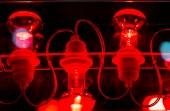Decorative red lamp — Stock Photo