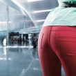 Female  buttocks in red trousers — Stok fotoğraf #81647622