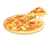 Big tasty pizza — Stock Photo