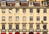 Retro european block of flats — Stock Photo