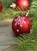 Traditional Christmas balls — Stock Photo