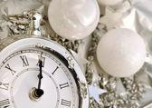Clock striking midnight — Stock Photo