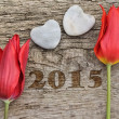2015 - hearts and tulips — Stockfoto #57351723