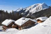 Chalets in the mountains — Stock Photo
