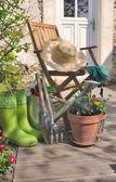 Gardening in terrace — Stock Photo