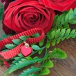 Heart pendant with roses — Stock Photo #62325547
