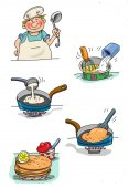 Cook  food — Stock Photo