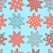 Seamless pattern with patchwork stars — Stock Vector #72840009