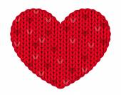 The knitted heart — Stock Vector
