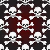 Skulls vector seamless pattern — Stock Vector