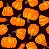 Vector cartoon seamless pattern with pumpkin — Stock Vector