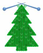 The christmas tree knitted on spokes — Stock Vector
