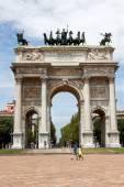 Arco della pace a milano — Foto Stock