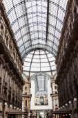 Vittorio Emmanuele gallery magnificent interior, Milan, Italy  — Stock Photo