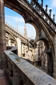 Duomo di Milano gothic cathedral church, Milan, Italy  — Foto Stock