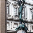 Statue of perseus with head in hand. Florence. Italy. — Stock Photo #54956853