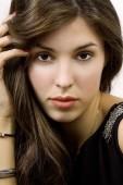 Beauty Portrait  woman.  Perfect Fresh Skin. — Stock Photo