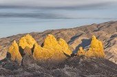 Trona Pinnacles sunset — Stock Photo