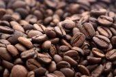 咖啡豆特写背景 — 图库照片