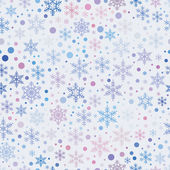 Vector seamless pattern with snowflakes — Stock Vector