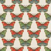 Vector seamless pattern with butterflies — Stock Vector