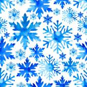 Patterns with snowflakes watercolor — Stock Vector