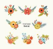 Vintage floral elements. — Stock Vector