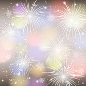 Fireworks colorful background. — Stock Vector