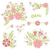 élément de design floral. — Vecteur