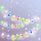 Christmas light garland. — Stock Vector