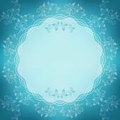 Round flower frame. — Stock Vector