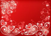 Valentine background with heart. — Stock Vector