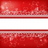 Fundo de dia dos namorados com coração. — Vetor de Stock