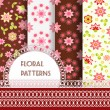 Floral seamless and borders. Set — Stock Vector #67090171