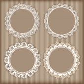 Collection lace frames. — Stock Vector