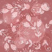 Pink floral background. — Stock Vector
