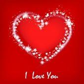 Cartolina di san valentino con il cuore. — Vettoriale Stock